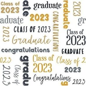 Class of 2021 Graduation in Black, Gray and Golden Yellow © Jennifer Garrett