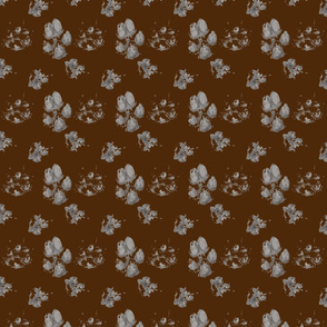 Muddy paw prints - chocolate