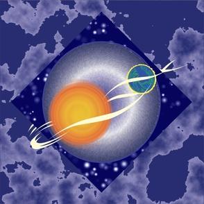 Sun and Earth in Orbit