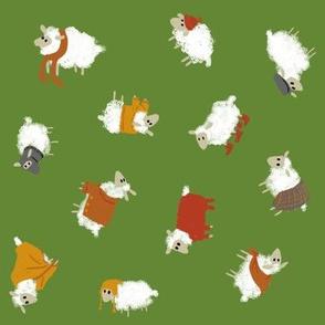 Ditsy Sheep, Wearing Woolen Wardrobe