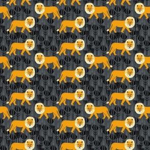 Safari Lion -// lion tiger safari stamp blockprint andrea lauren