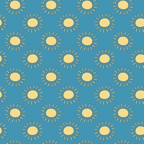Baby Fish sun on blue sky