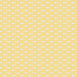 Baby Fish white on yellow