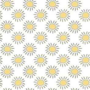 Baby Fish Yellow Sun on white