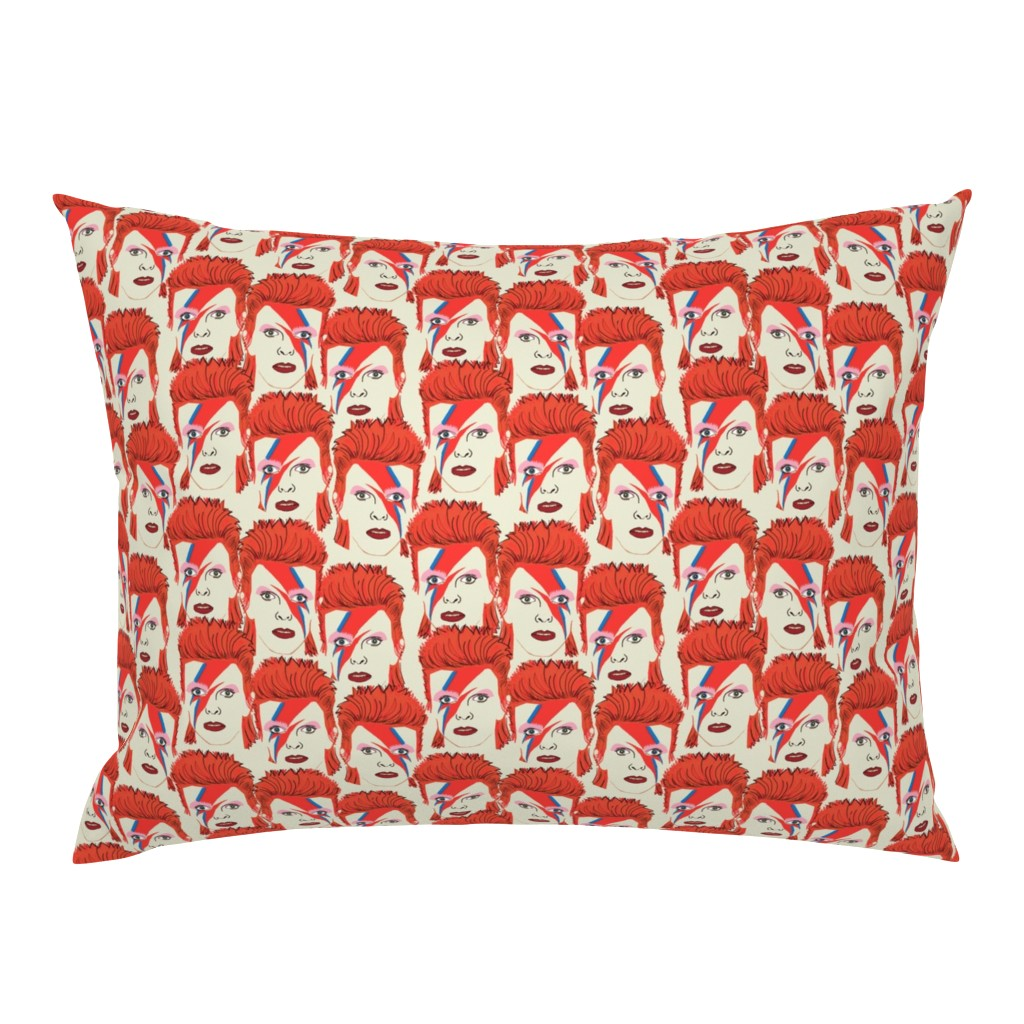 Campine Pillow Sham featuring Glam rock creme #2 small size  by susiprint