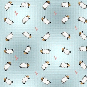Counting Sheep, Baby Blue & White