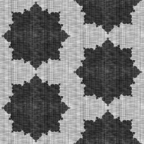 Starburst ~ Black and White Linen Luxe ~ Medium