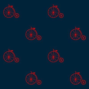 Penny farthing (blue and red)