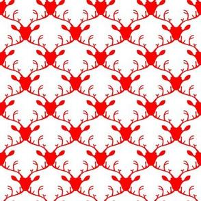 Deer heads (red)