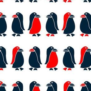 Penguin (blue and red)