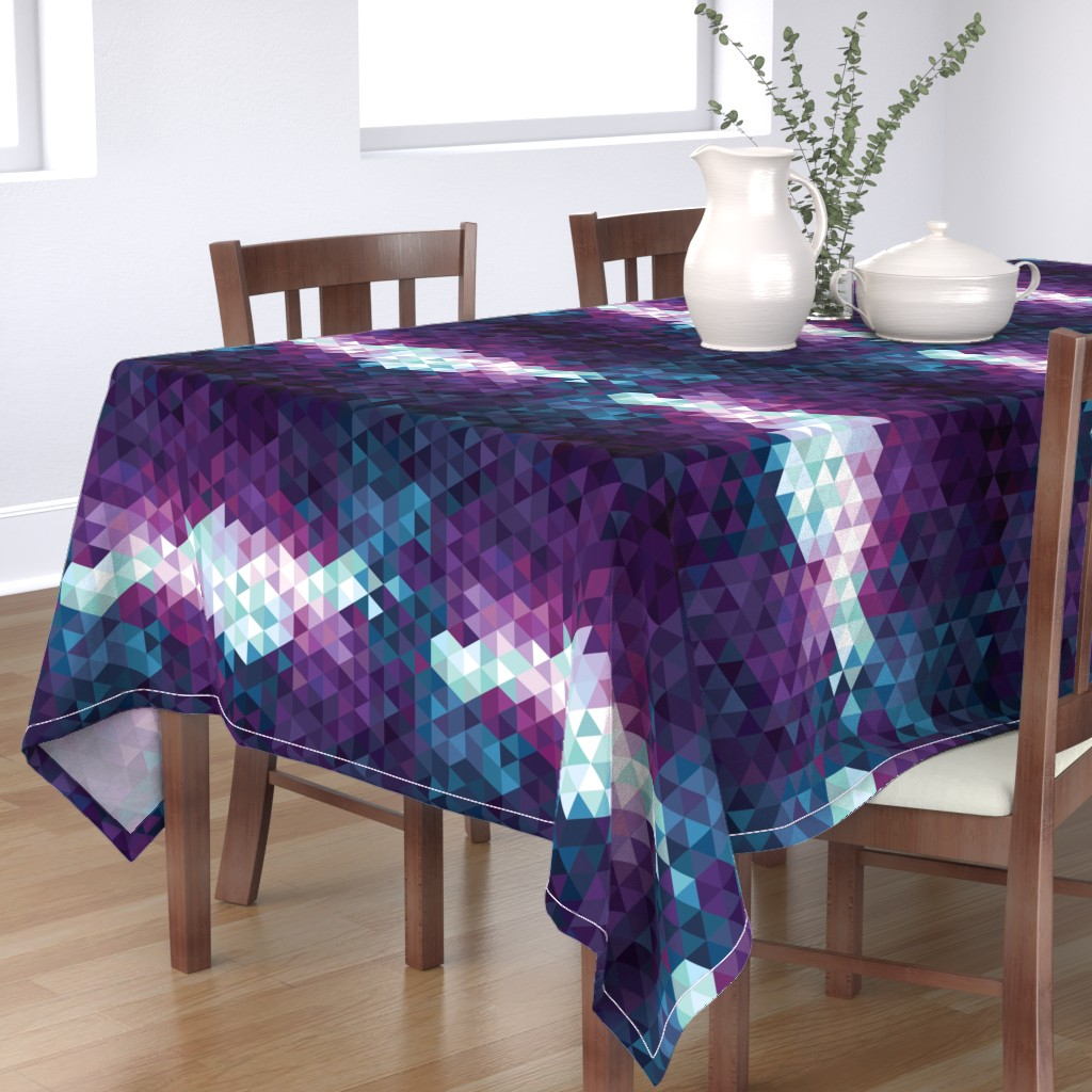 Bantam Rectangular Tablecloth featuring Stormy Skies Triangle Geometric by electrogiraffe