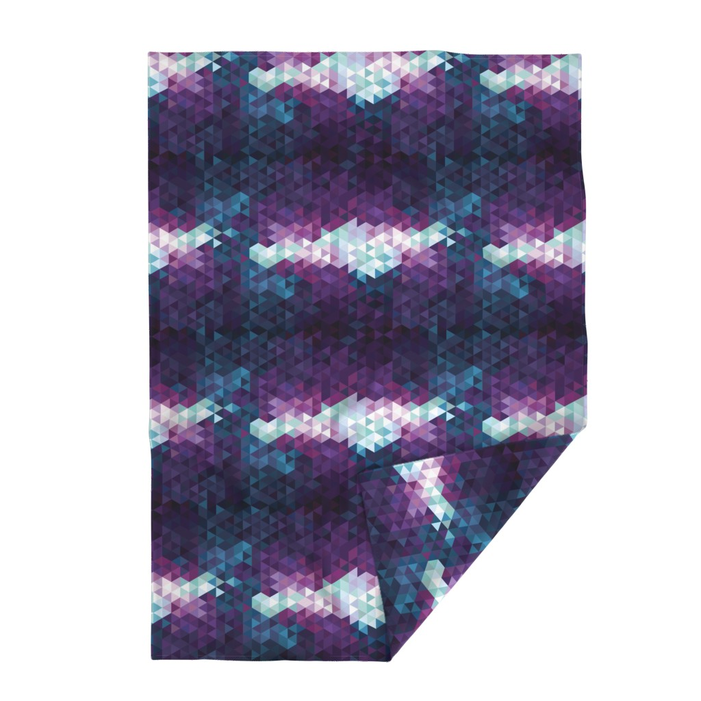 Lakenvelder Throw Blanket featuring Stormy Skies Triangle Geometric by electrogiraffe