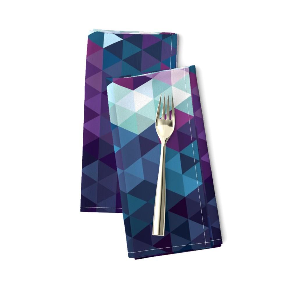 Amarela Dinner Napkins featuring Stormy Skies Triangle Geometric by electrogiraffe