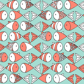 Go Fish - Coral and Mint