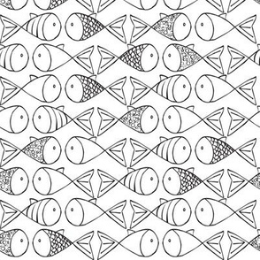 Go Fish - Black and White