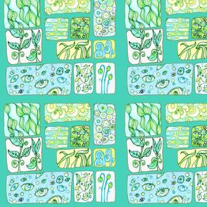Garden Windows in Blues