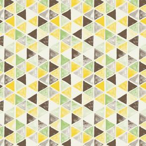 Watercolor Triangles - colorway 04 - lemon