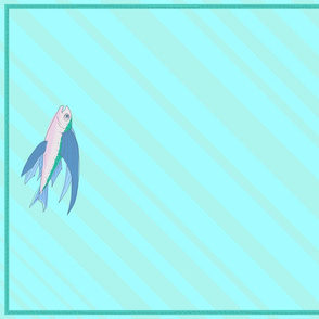 flying fish towel