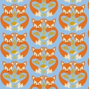 Fox Print Light Blue