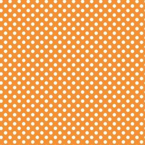 Polka Dot Print, Orange