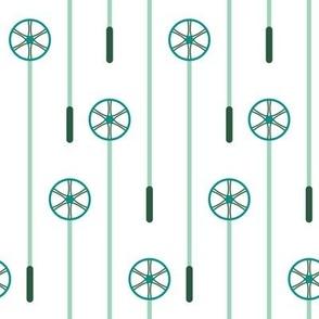Retro Ski Poles (Minty)