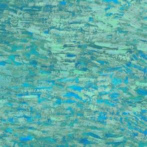 paint daubs - aqua