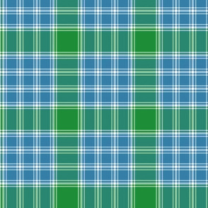 "MacDonald, Lord of the Isles tartan, 3"" blue-green"