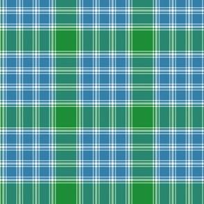 "MacDonald, Lord of the Isles tartan, 3"" blue-green"