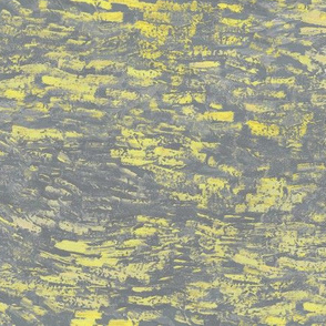 yellow and grey paint daubs