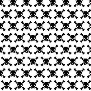 skulls - black on white