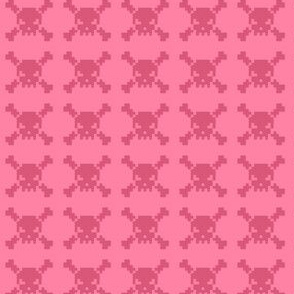 skulls - pink