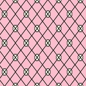 Net-Stocking Hearts - pink