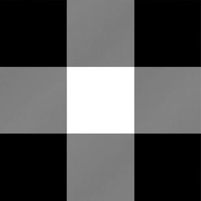 "6"" Buffalo Check - black and white"