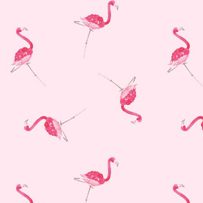 Scattered Pink Flamingos, Pink