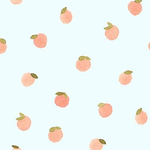 Sweet Peach Polka Dot, Aqua