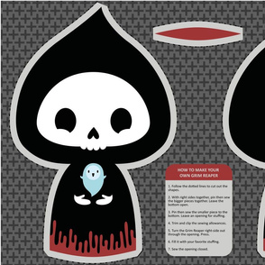 Grim Reaper cut and sew toy