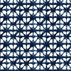 Tiny Indigo Shibori Triangle Pattern