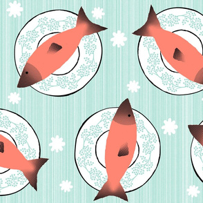 Coral Mint Salmon