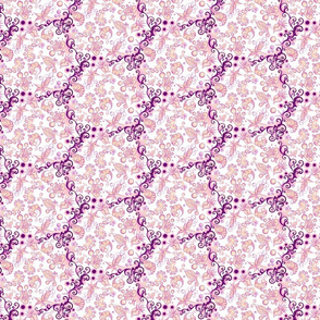 Showy Shapes- Ornate Lacy- Small- White Background
