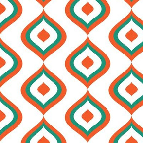Ogee Arc Tangerine and Teal