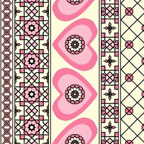 Border Hearts - Pink Blush.