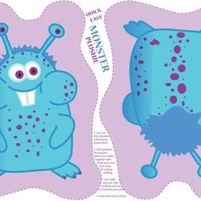 Monster Plushie (purple/blue) - by Kara Peters