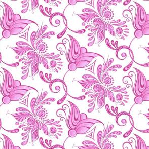 Purple Pretties- Large- White Background, Flower Bud Designs