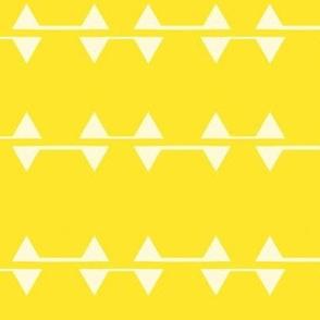 White Triangles on Yellow