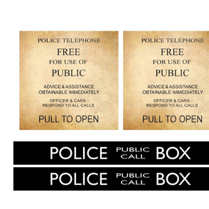 Time Travelling Box Signs