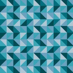 Teal Geo Triangles