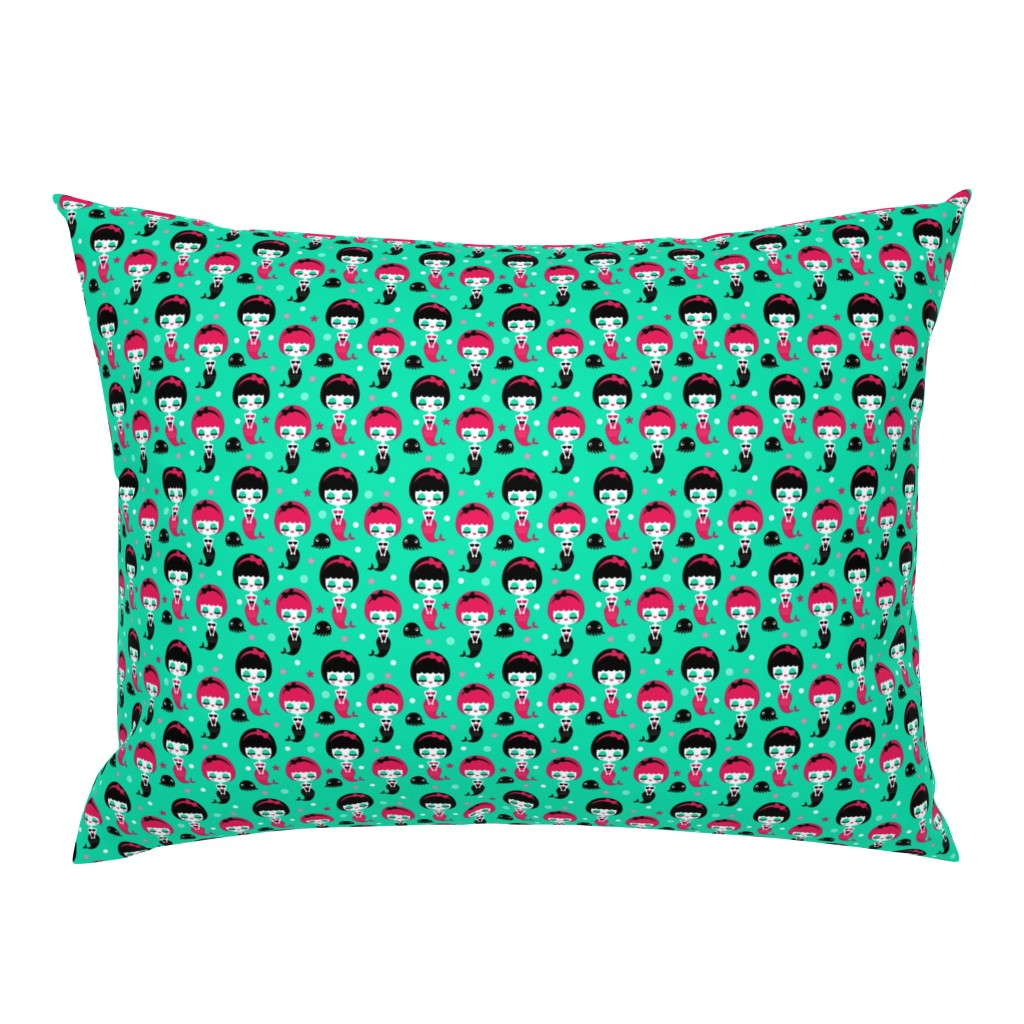 Campine Pillow Sham featuring Mermaids by emandsprout