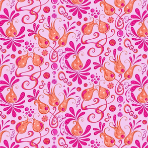 Bodacious Buds- Flowers- Large- Light Pink Background