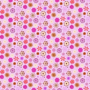Fancy Flowers- Ornate- Small- Light Pink Background