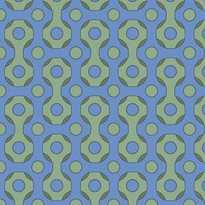 Retro Grid Blue